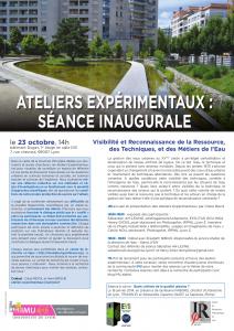 Séance Inaugurale Ateliers Expérimentaux – Visibilité et Reconnaissance de la Ressource, des Techniques, et des Métiers de l'Eau