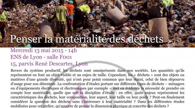 Atelier expérimental Penser la matérialité des déchets