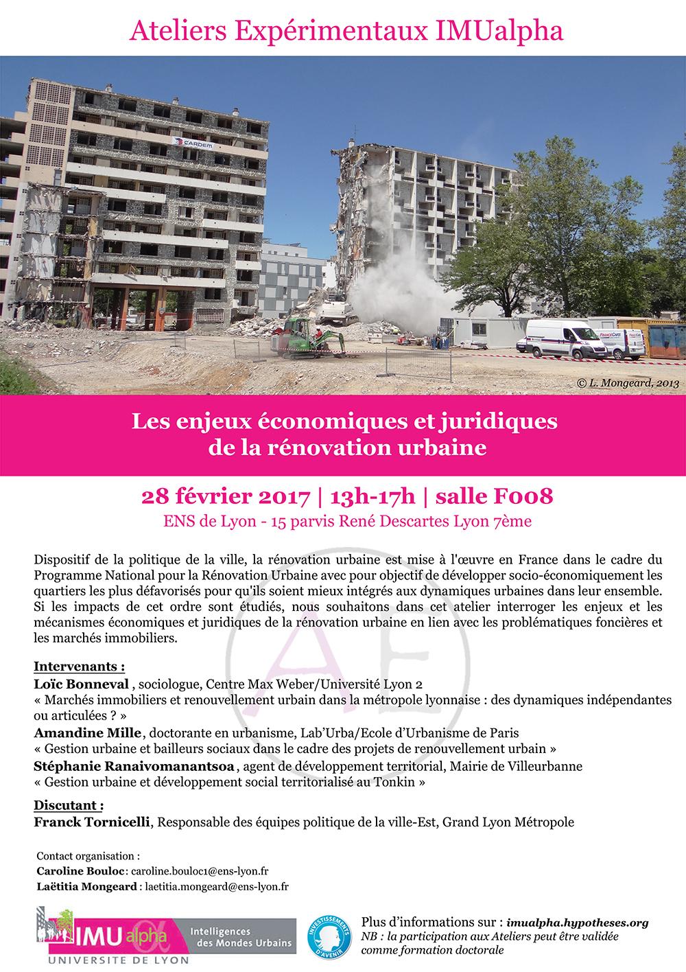 rénovation urbaine renouvellement urbain